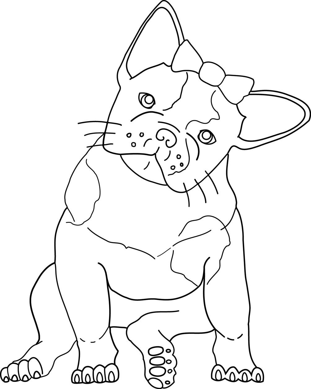 bulldog coloring pages to print - photo#12