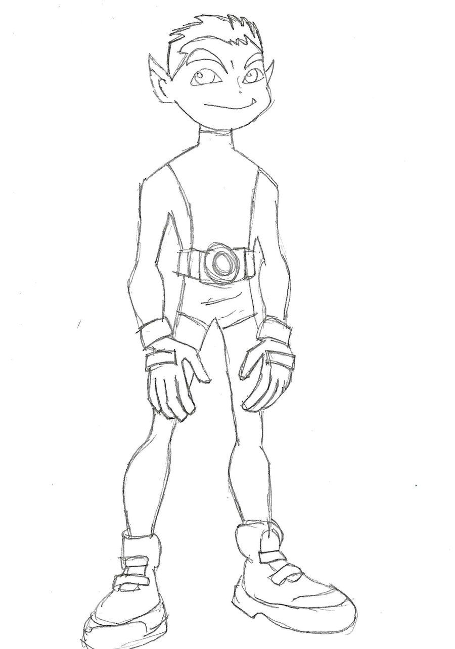 Coloring Pages Beast Boy : Beast boy coloring pages home
