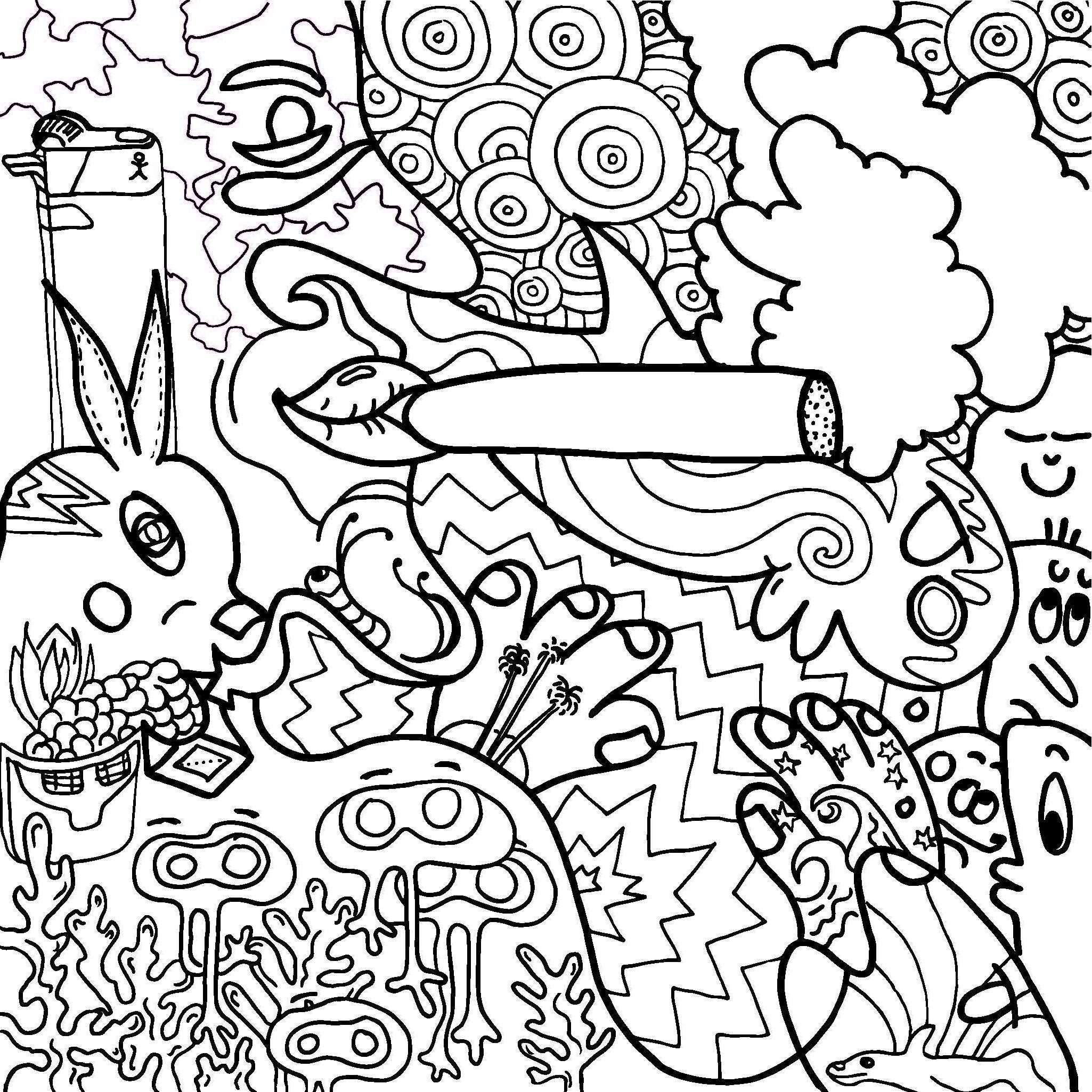 Hippy Coloring Pages - Coloring Home