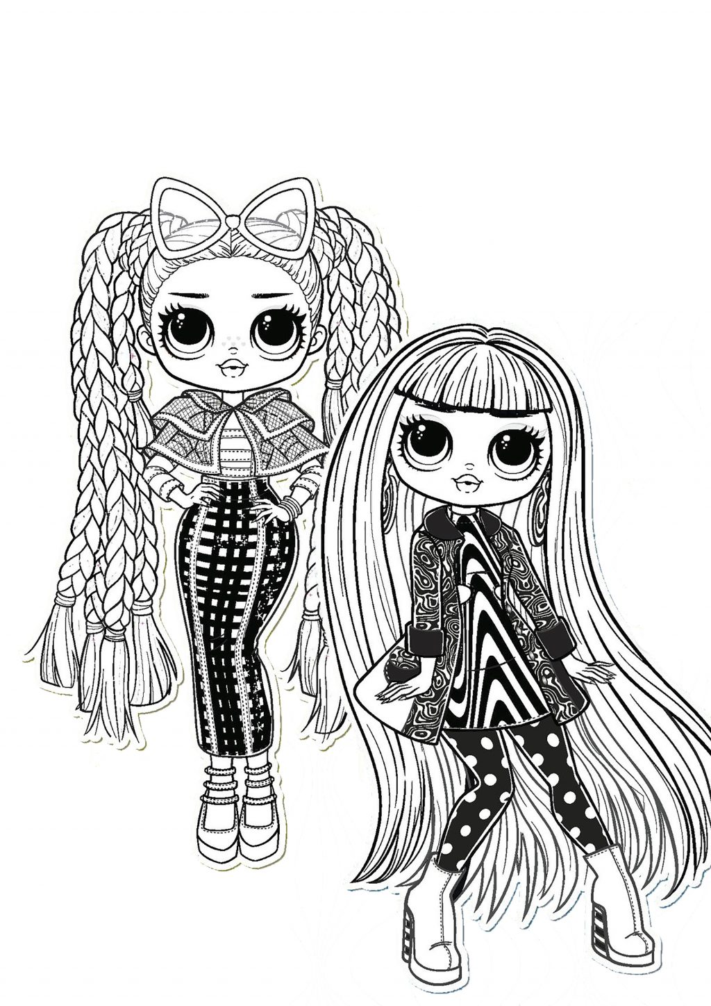 Omg Doll Coloring Pages Coloring Home
