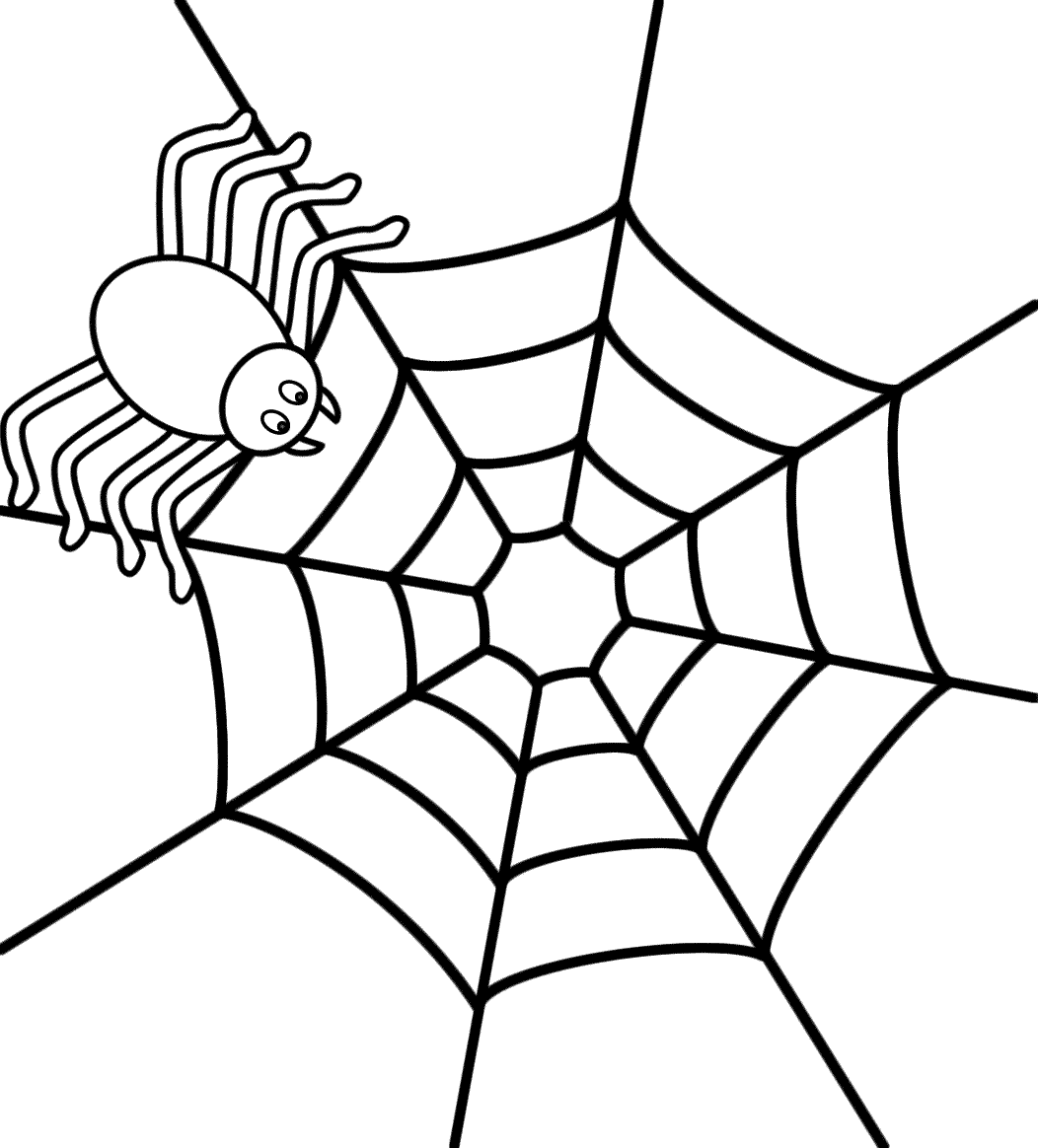 Spider On A Web - Coloring Page (Insects) - Coloring Home