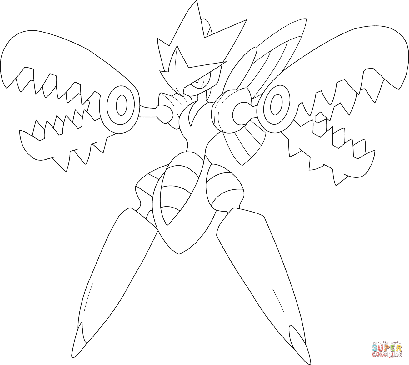 Pokemon Scizor Coloring Pages Coloring Home Mega Coloring Pages