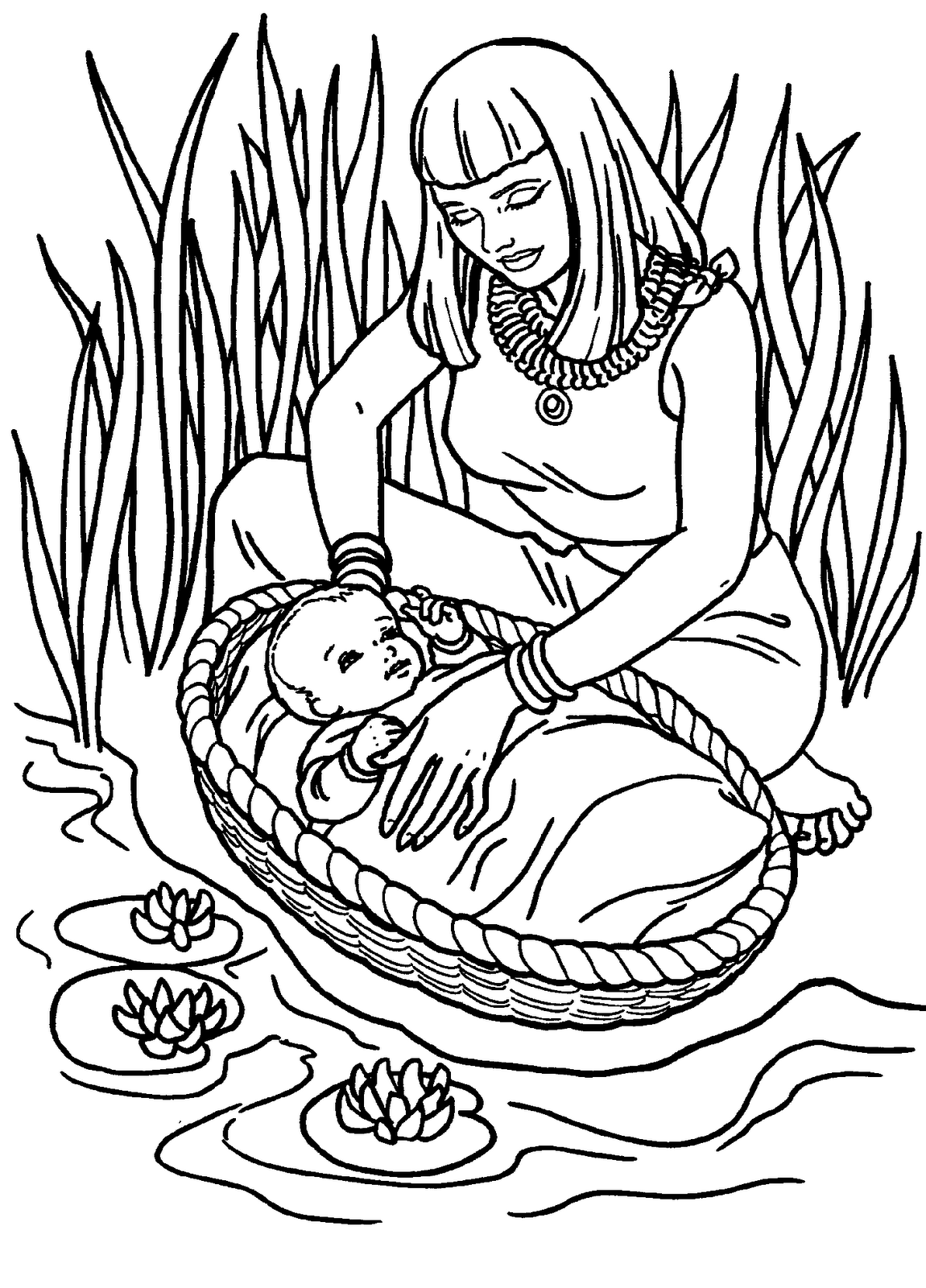 Coloring Pages Crossing The Red Sea - Coloring Home