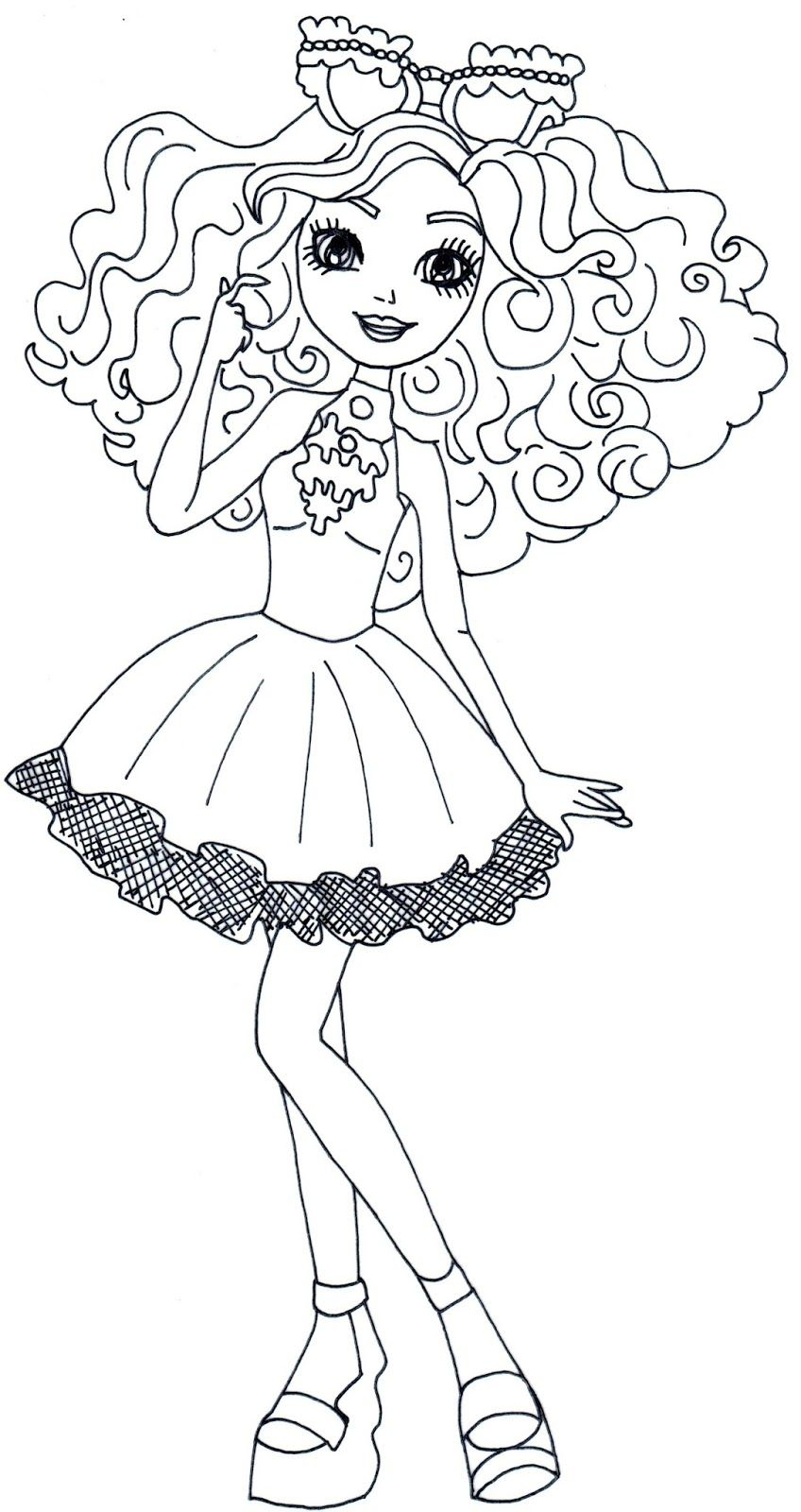 Free Printable Ever After High Coloring Pages Madeline Hatter