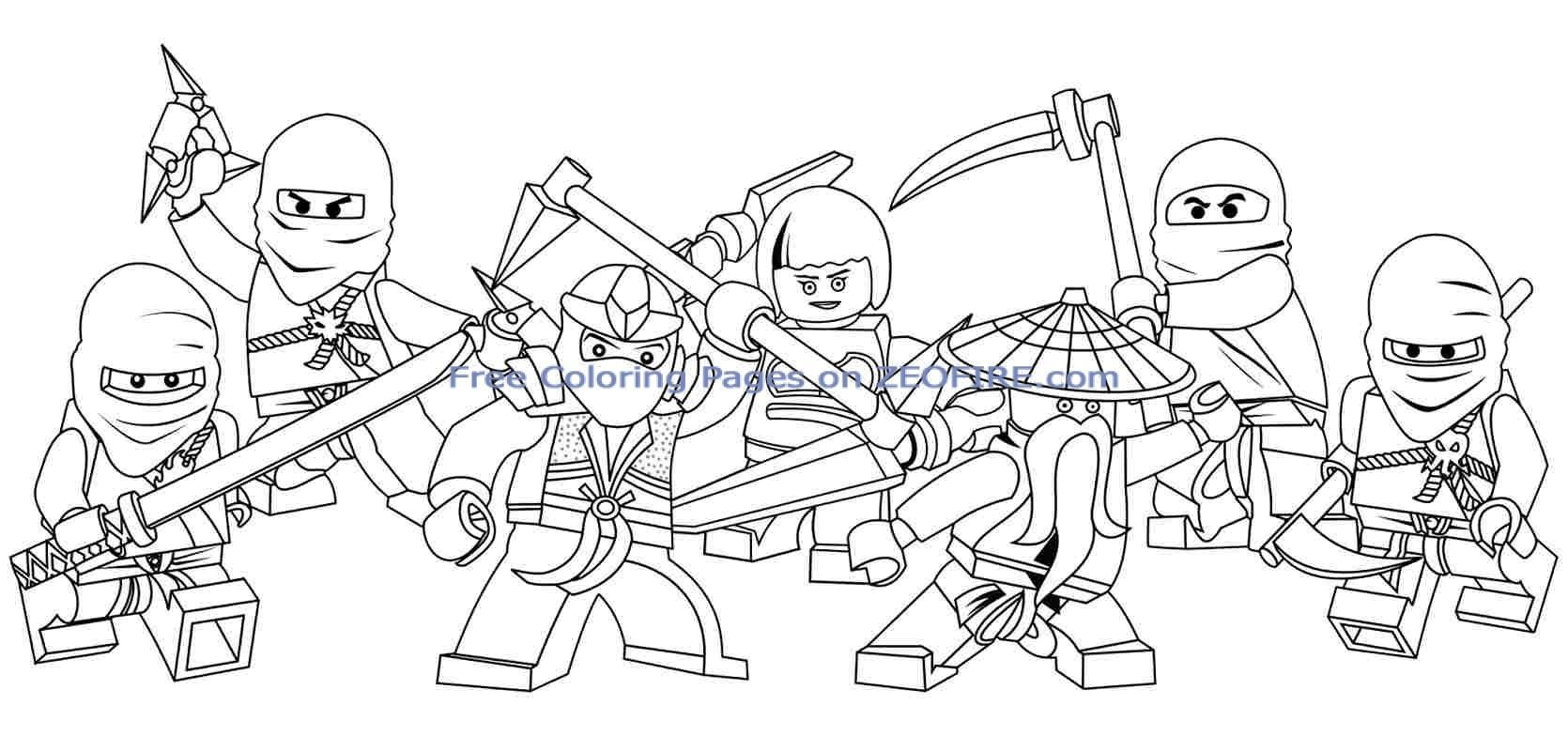 Free Coloring Pages Of Ninjago Coloring Home