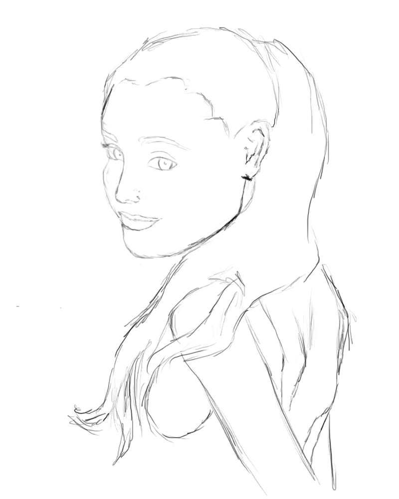 Steps How To Draw Ariana Grande Sketch Coloring Page Coloring Home