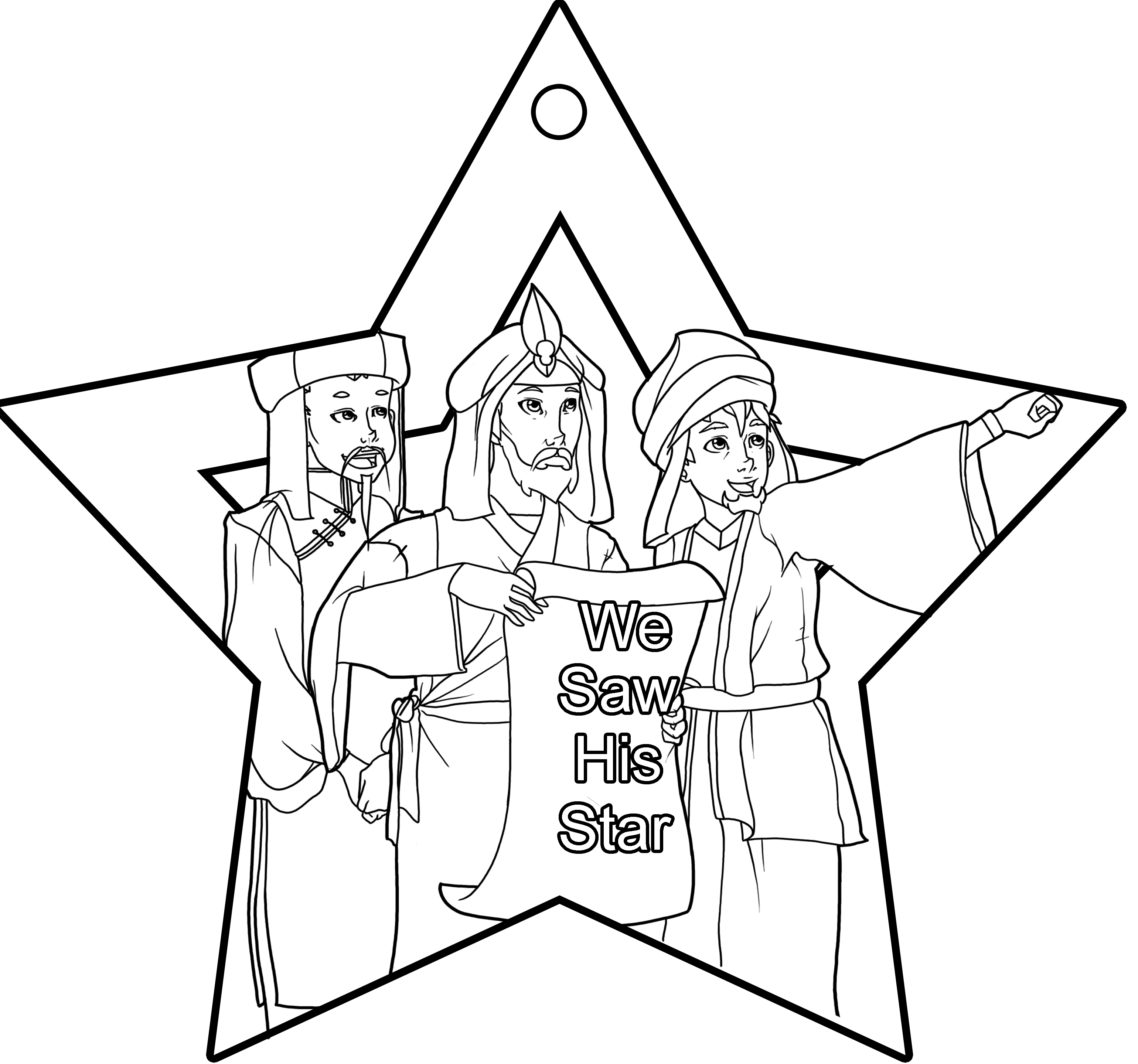 Coloring Page Wise Men Coloring Home Wise Coloring Pages