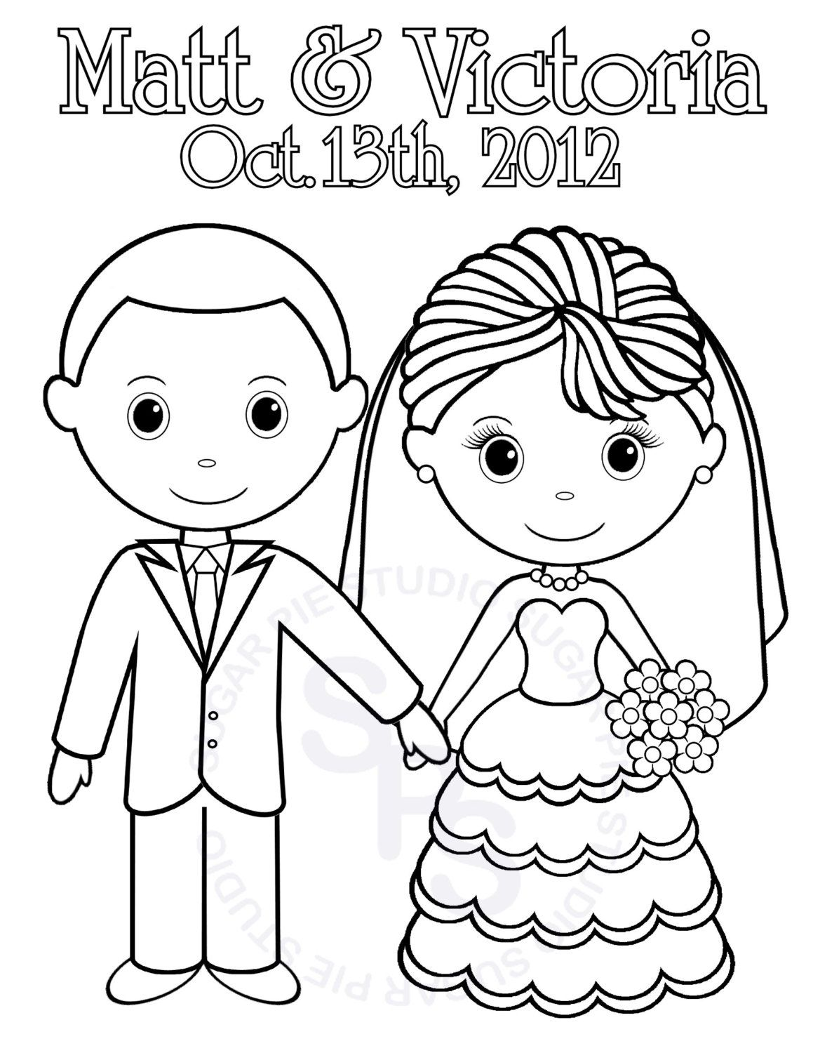 Printable wedding coloring pages kids coloring home for Wedding coloring pages to print