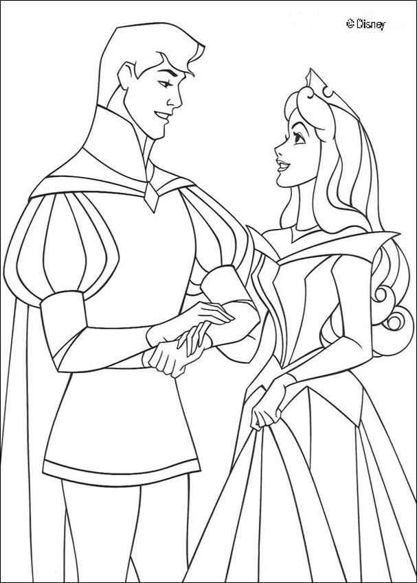 Sleeping Beauty coloring pages - Princess wedding