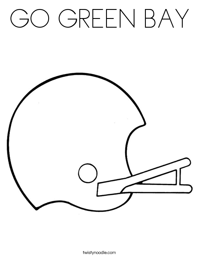green bay coloring pages - photo#8
