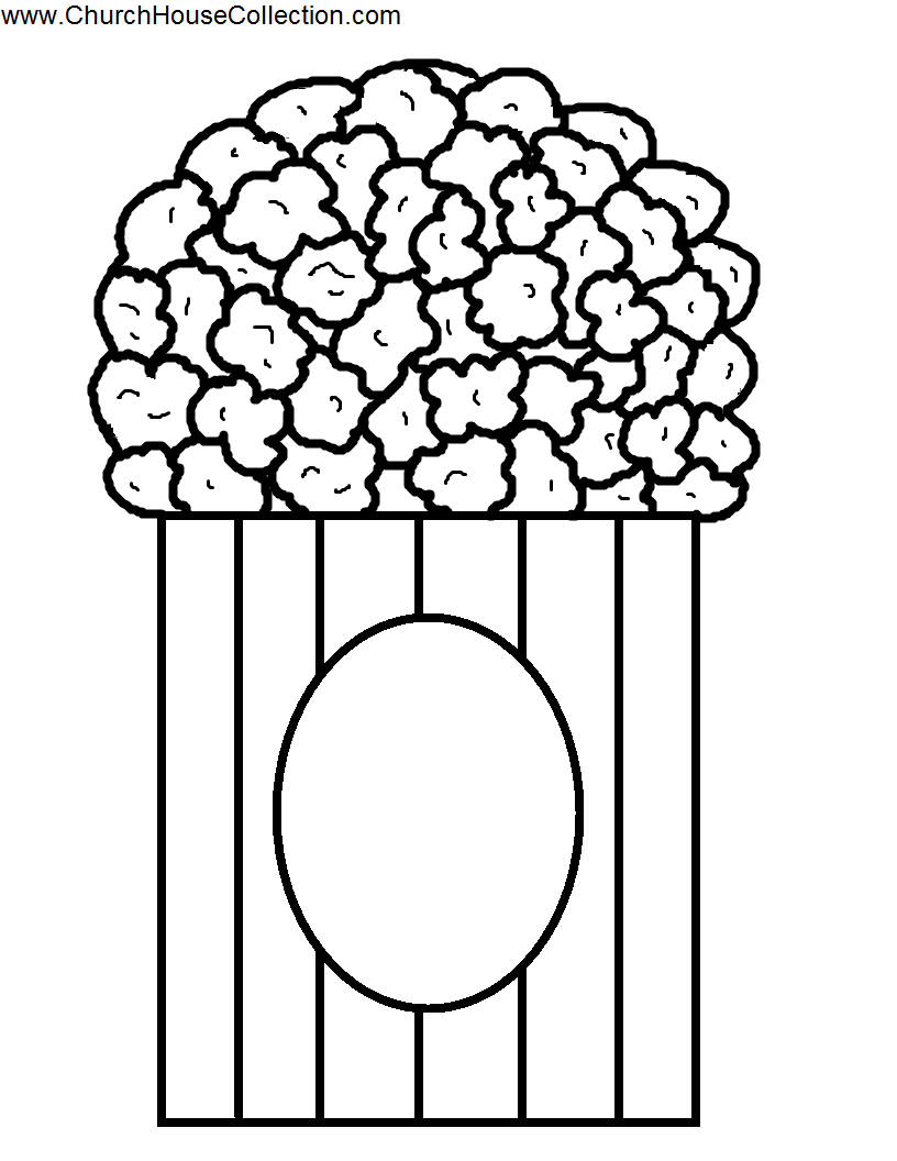Popcorn Coloring Pages Printable - Coloring Home