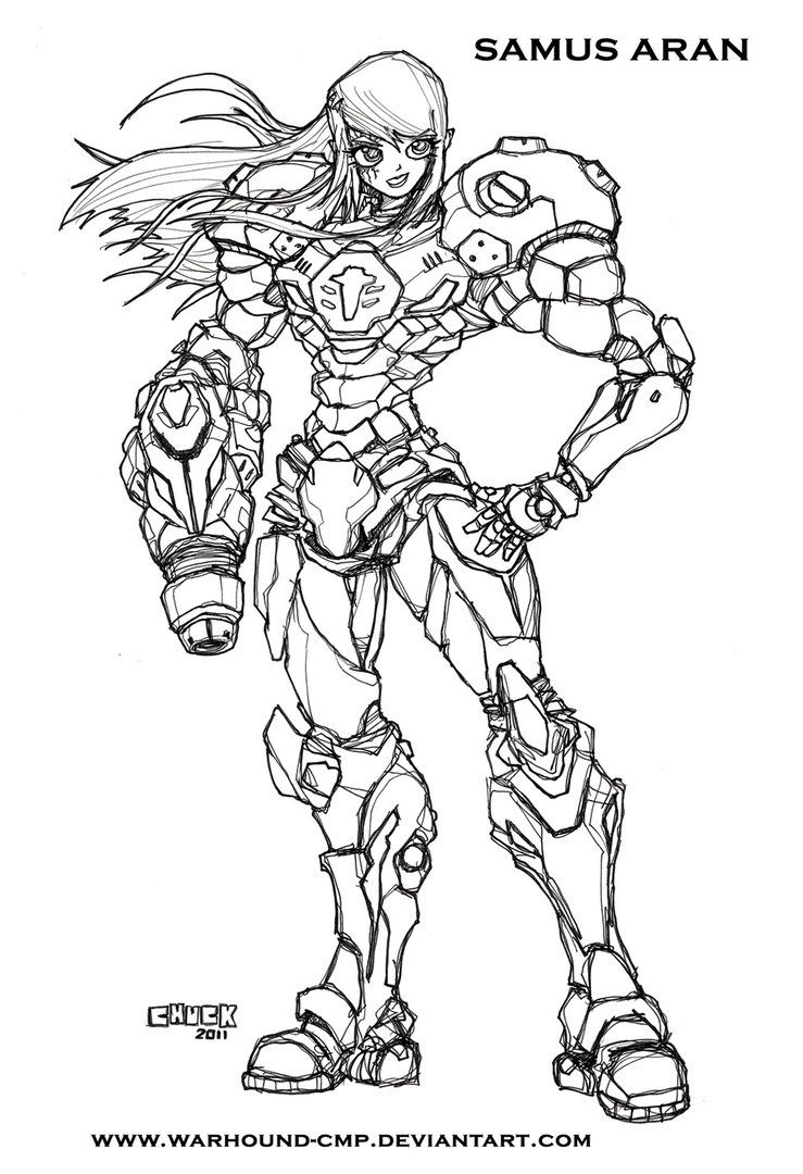 Samus Aran  Coloring Pages For Kids And For Adults  Coloring Home