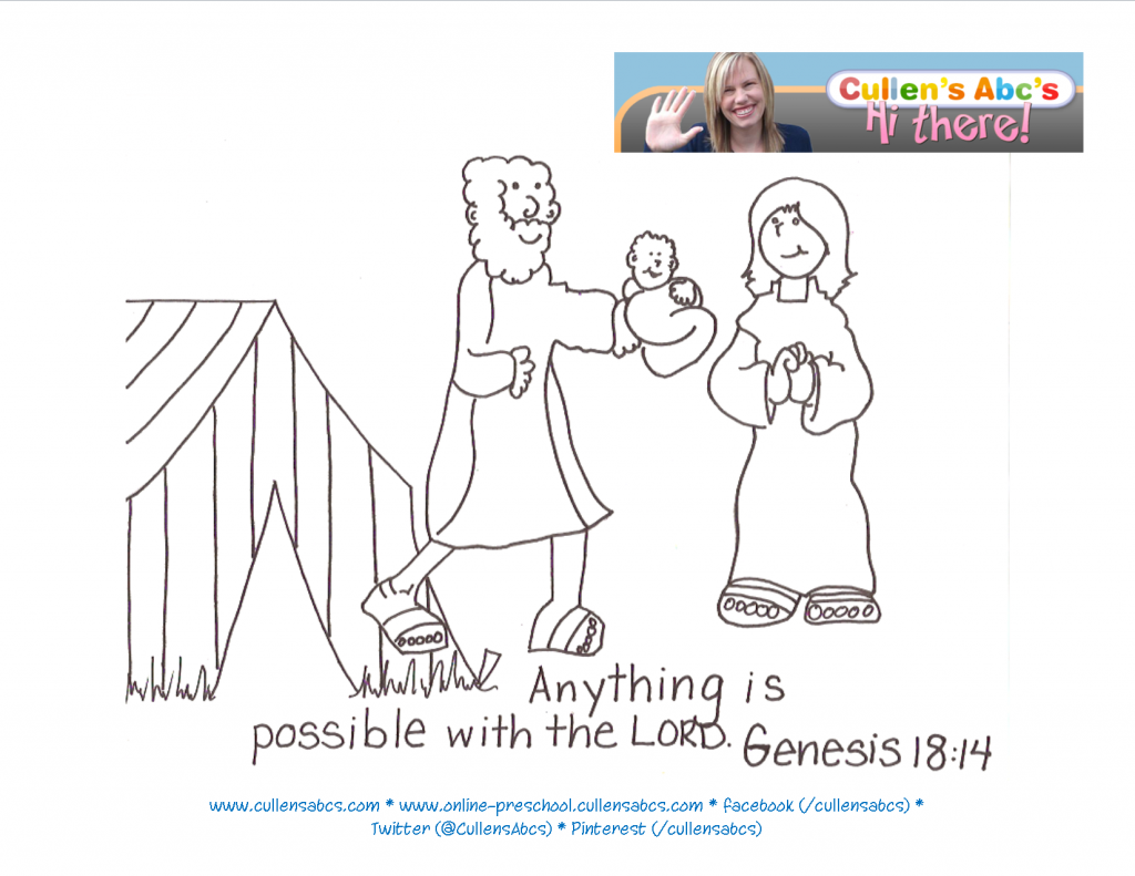 Abraham And Sarah Coloring Pages Printable Coloring Home