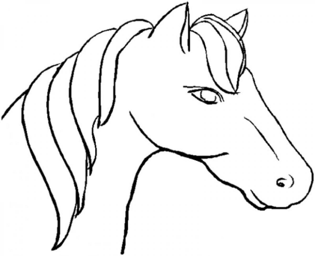 Unicorn Head Coloring Pages Coloring