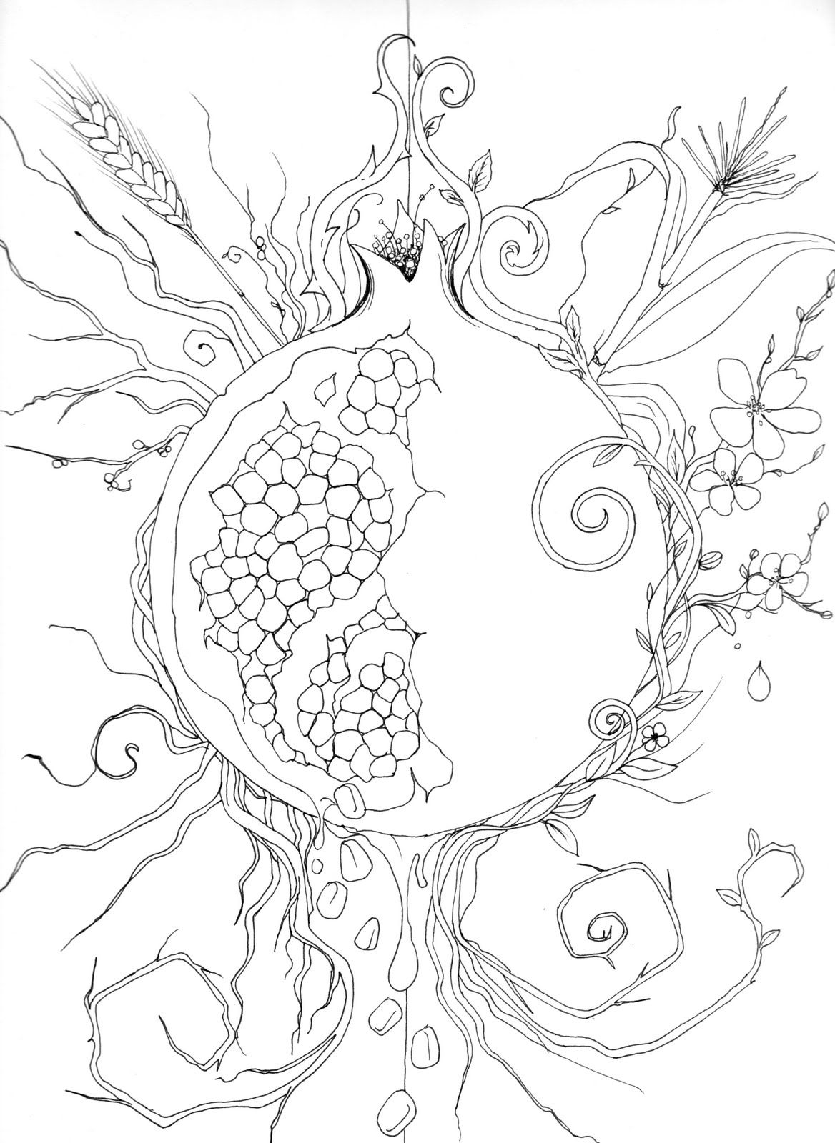 persephone coloring pages - photo #21