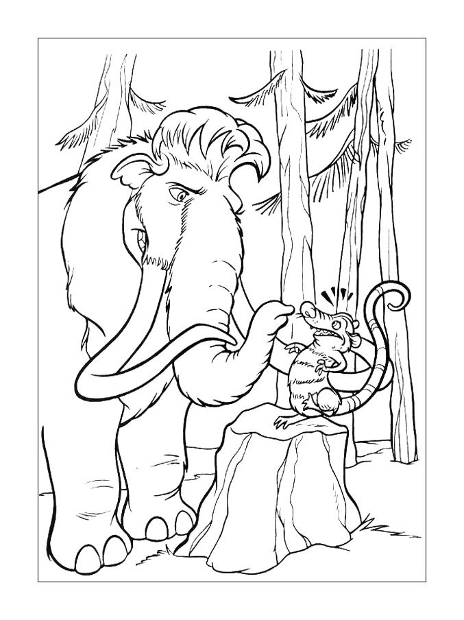 Ice Age 3 Coloring Pages Free - Coloring Home