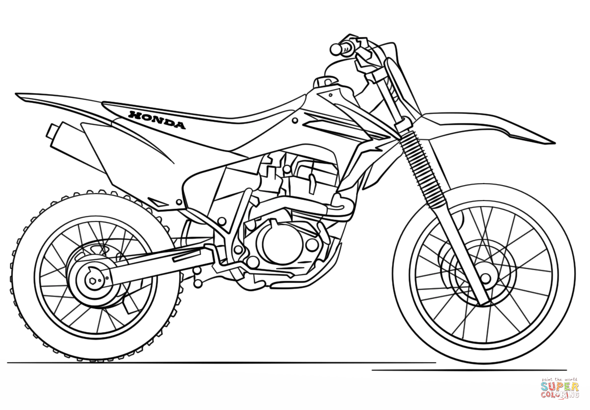 Honda Dirt Bike Coloring Page