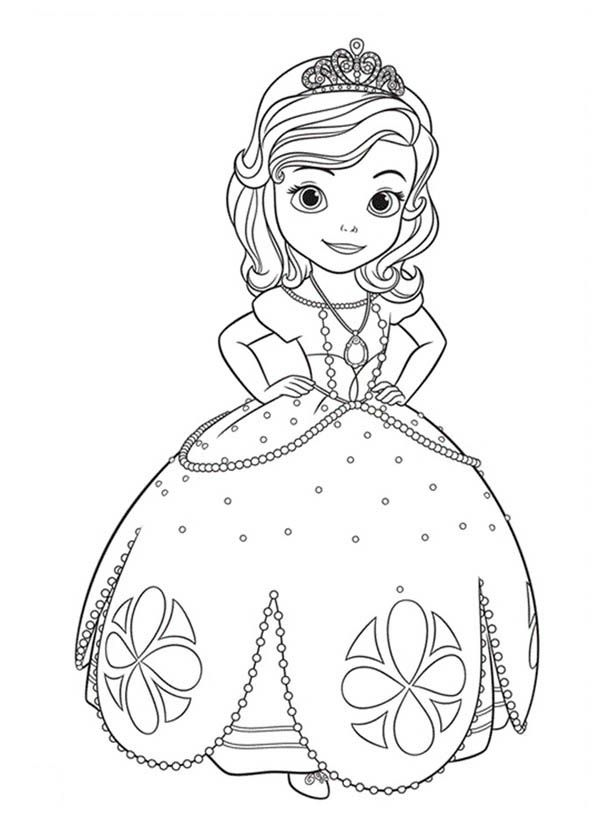 8 Pics Of Sofia First Coloring Pages Disney Sofia The First