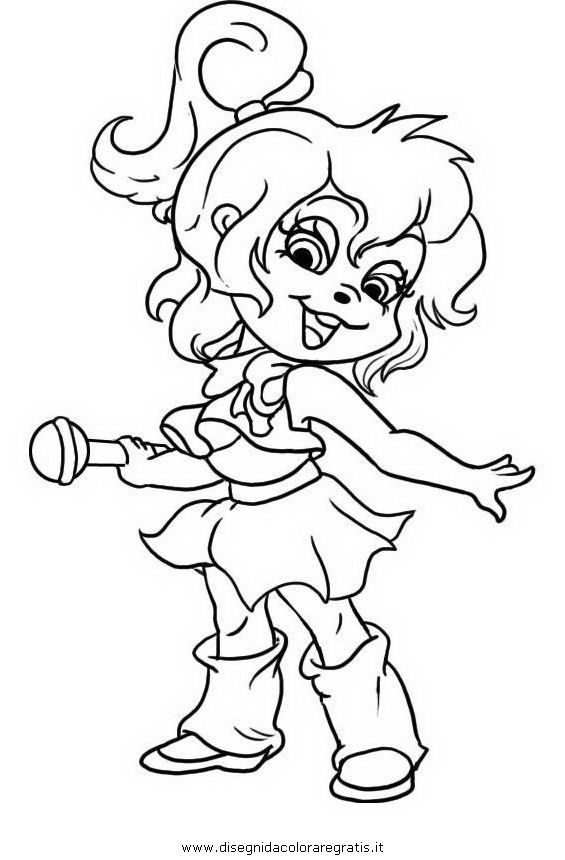 free chipettes coloring pages - photo#23