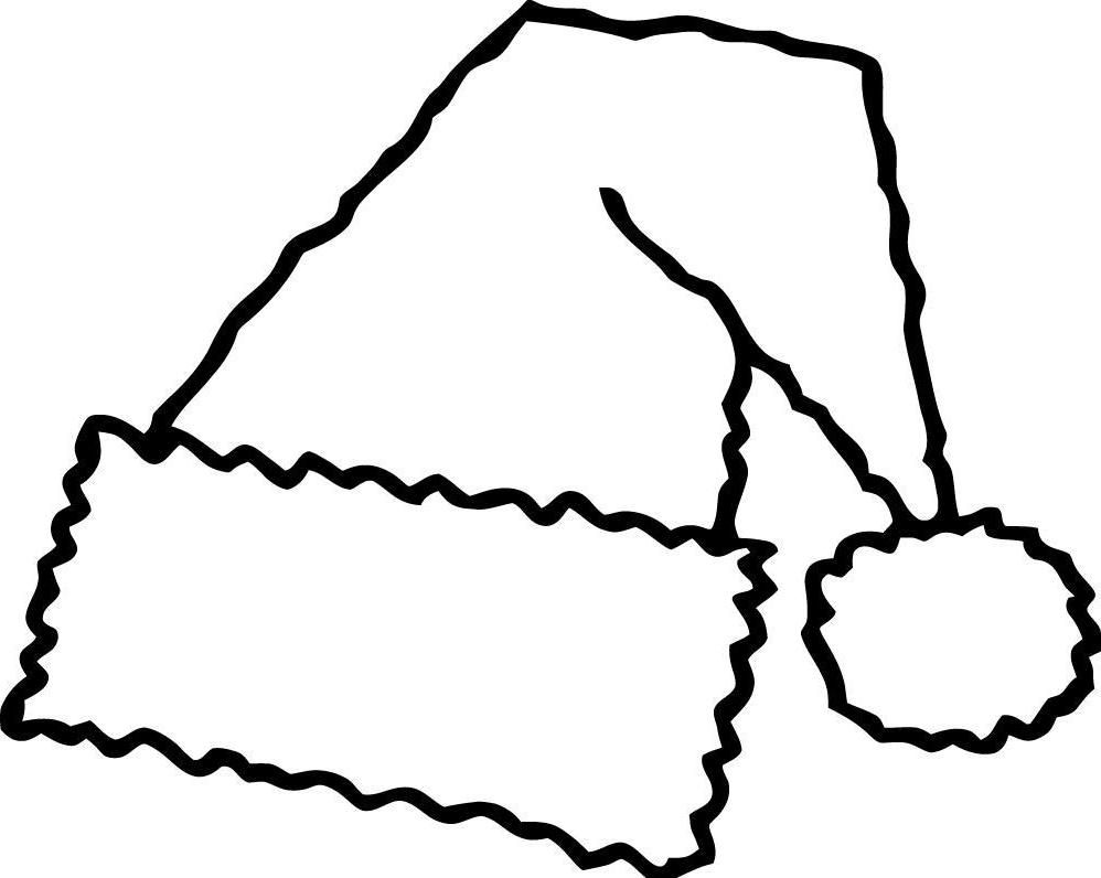 Coloring pictures merry christmas - Santa Hat Coloring Page 18 Pictures Colorine Net 14096