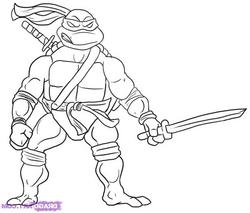 ninja turtle coloring pages for kids and for adults