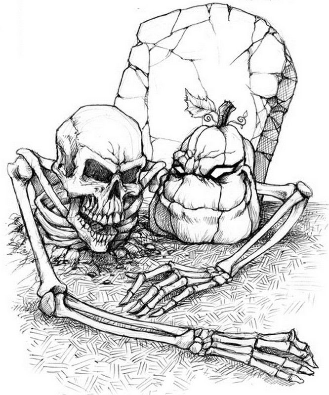 Halloween Coloring Pages Adults - Coloring Home