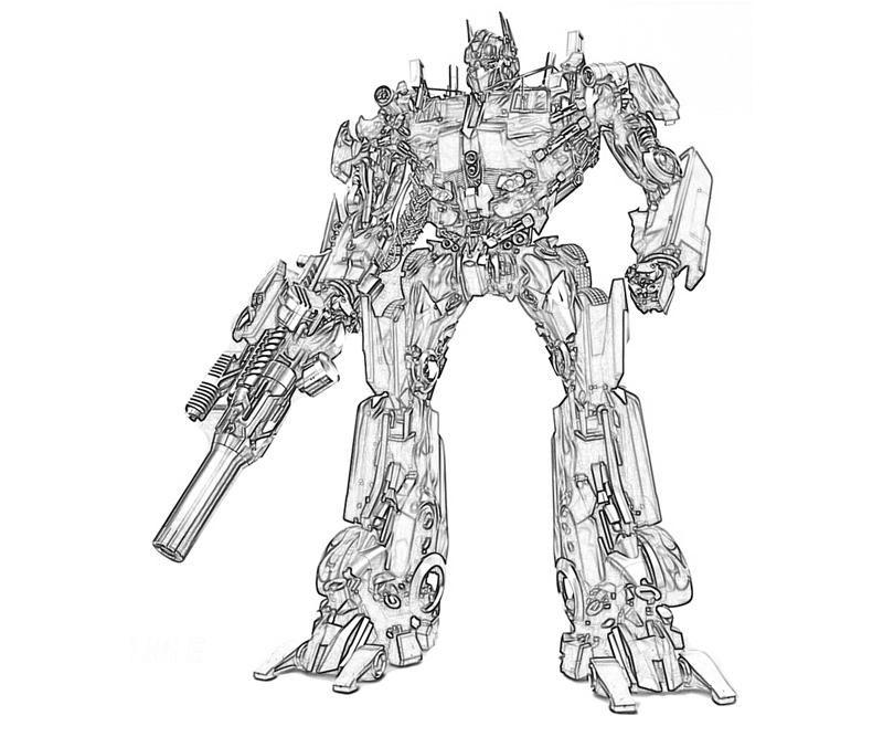 6 Pics Of Transformers Optimus Prime Coloring Pages