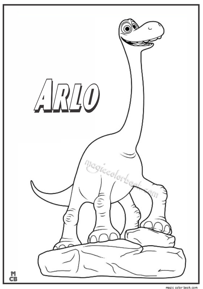 Good Dinosaur Coloring Pages Free Printable Arlo 01