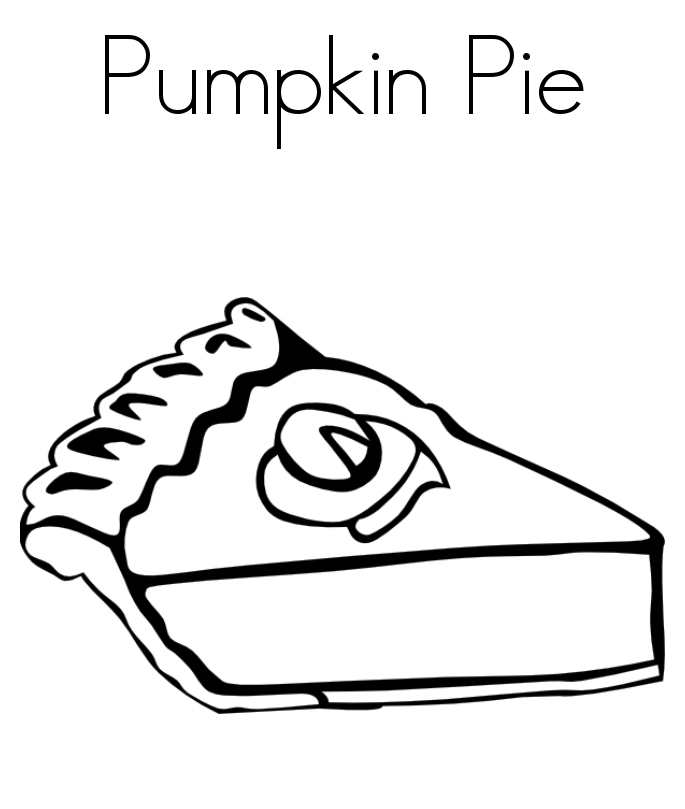 Thanksgiving Coloring Pages Pumpkin Pie | Holidays Coloring pages ...