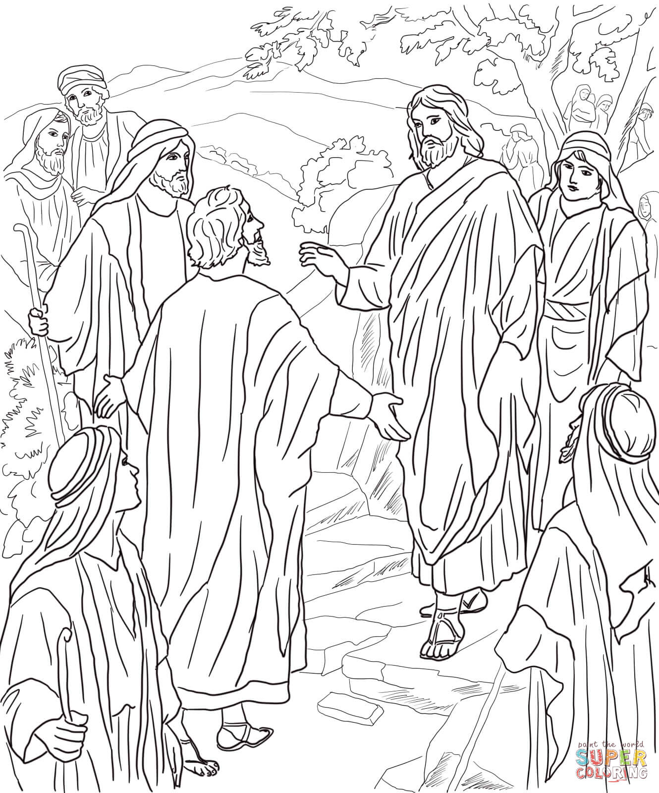 jesus transfiguration coloring pages - photo#36