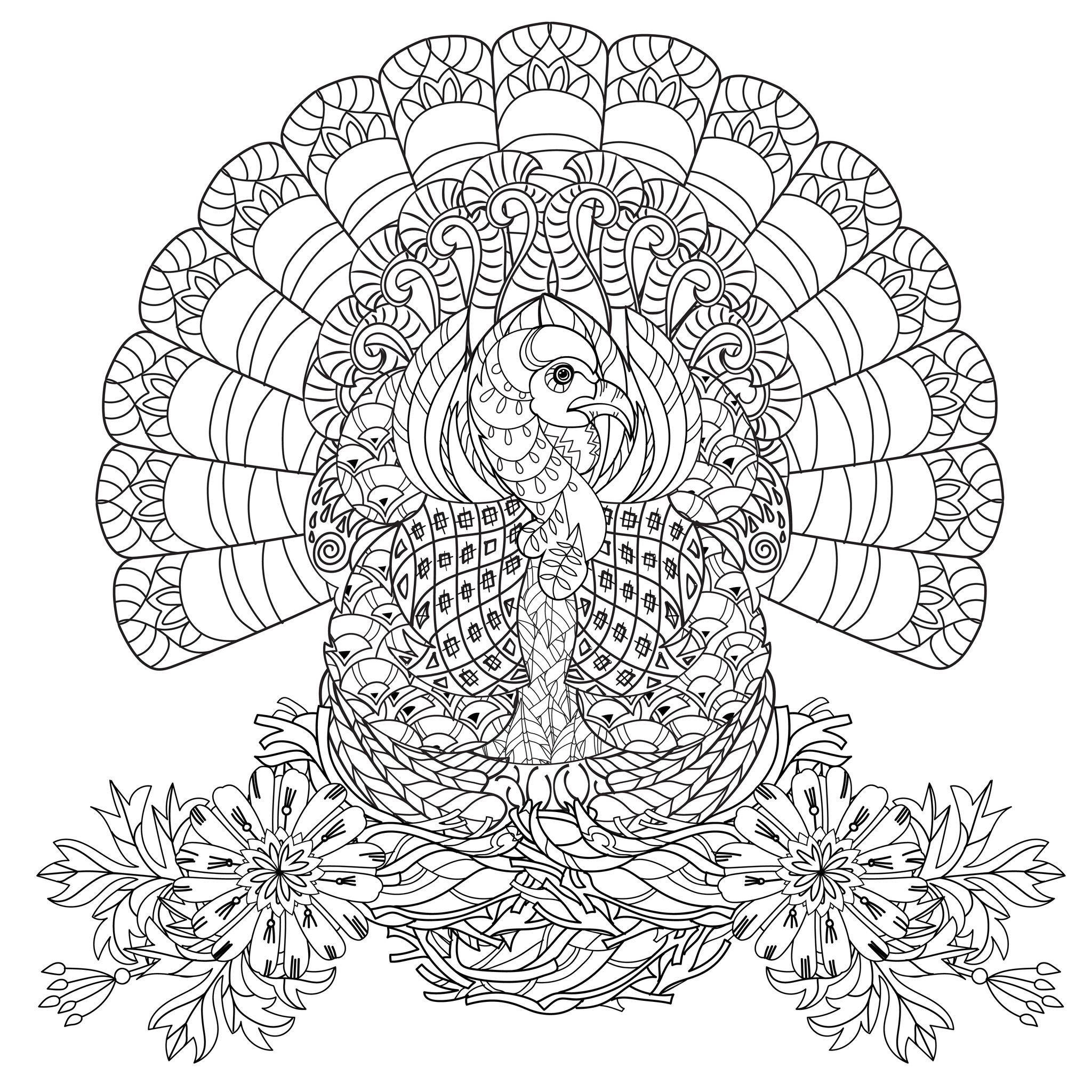 Thanksgiving Coloring Pages For Adults - Coloring Home