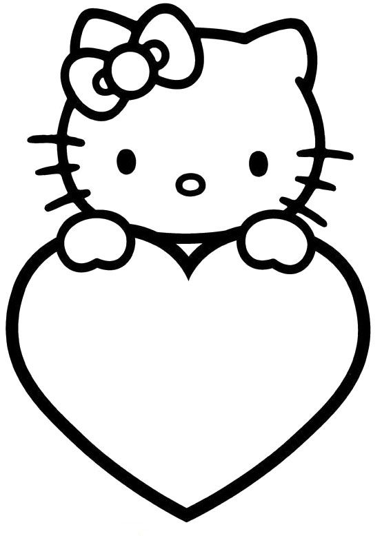 hello kitty valentines coloring pages - photo#12