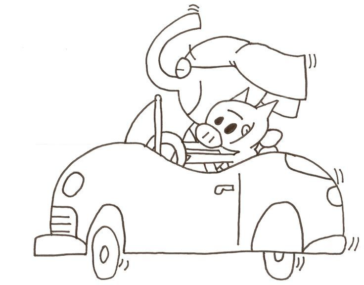 Personalized Mo Willems Coloring Pages Elephant And Piggie