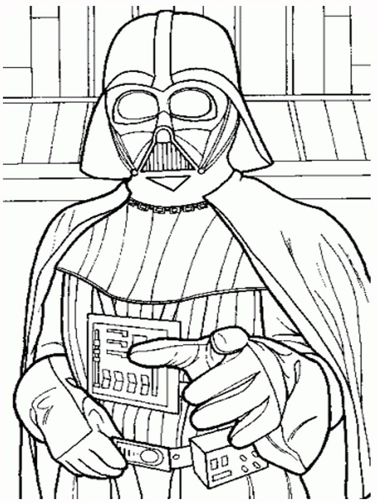 train lego star wars darth vader coloring page free printable