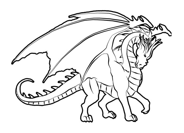 detailed dragon coloring pages - photo #27