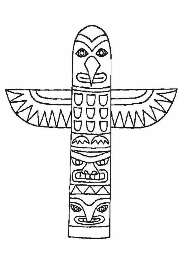 totem pole animal coloring pages - photo#22