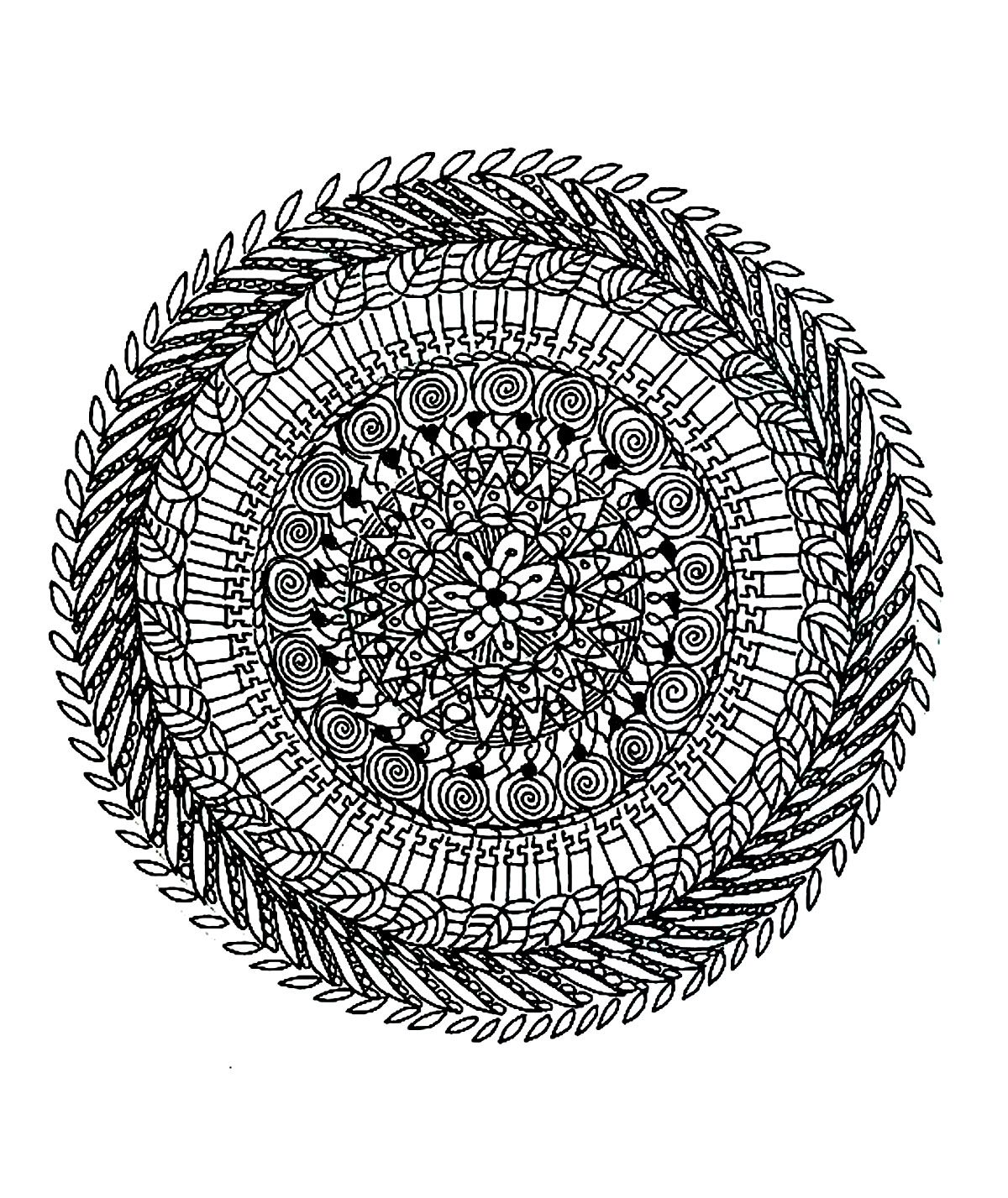 difficult mandala coloring pages - photo#12