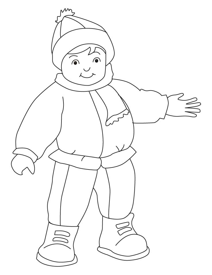 Winter Clothes Coloring Pages - Coloring Home