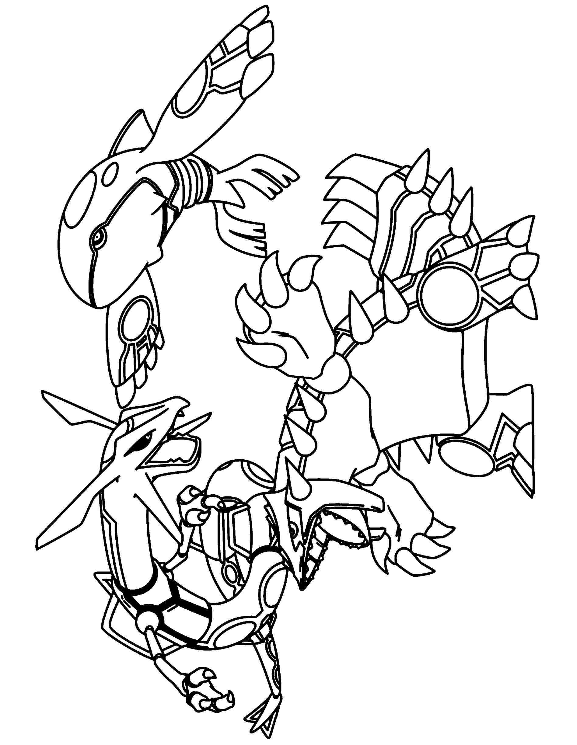 primal groudon coloring pages - photo#13