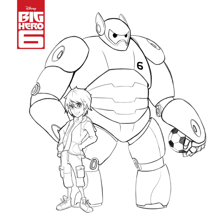 baymax coloring pages for kids - photo#13