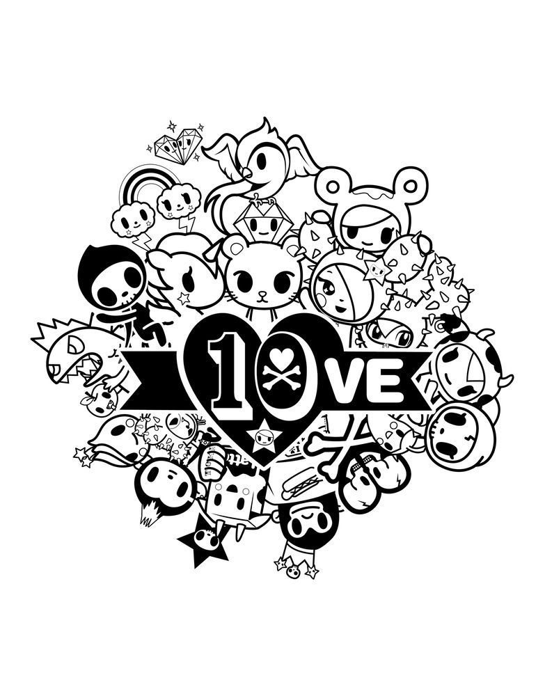 Tokidoki Coloring Pages Coloring Pages Tokidoki Coloring Pages