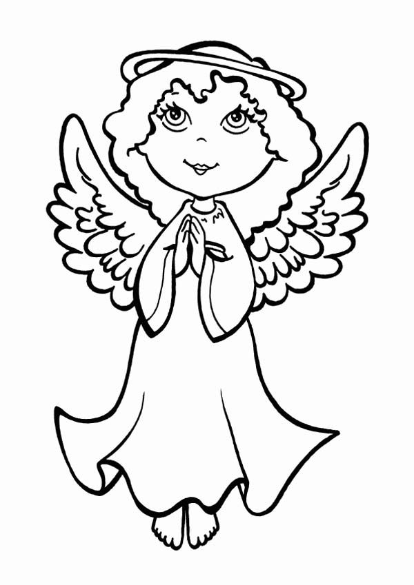Christmas angels coloring page coloring home for Angel coloring pages
