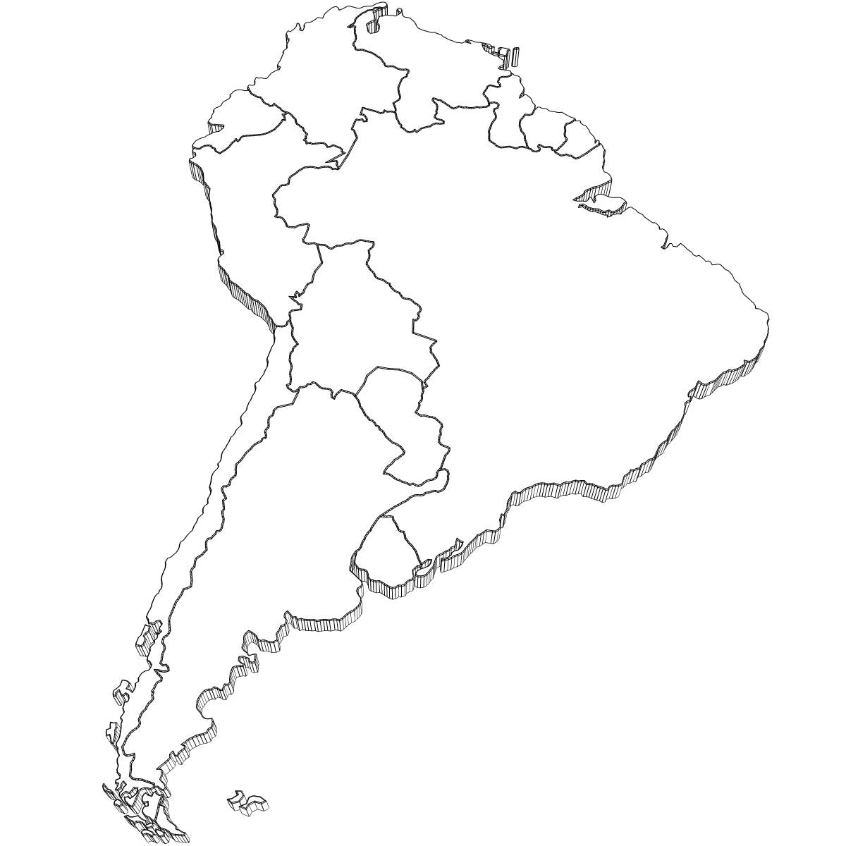 Best Photos of South America Coloring Pages - South America Map ...