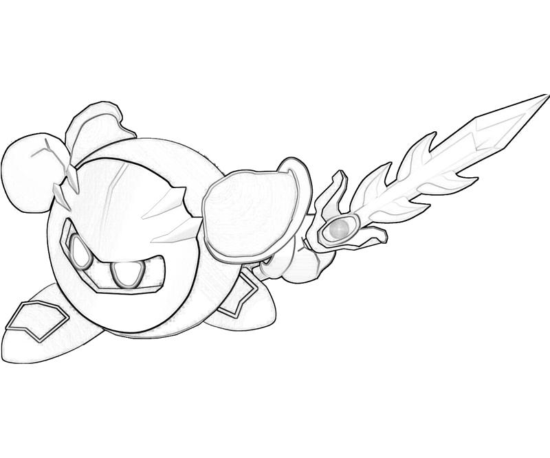meta knight kirby coloring pages - photo#18