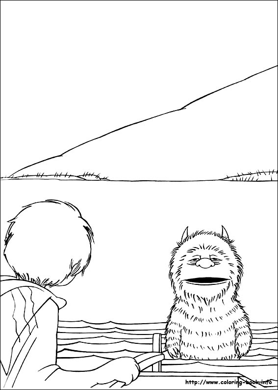 Where The Wild Things Are Coloring Pages Free