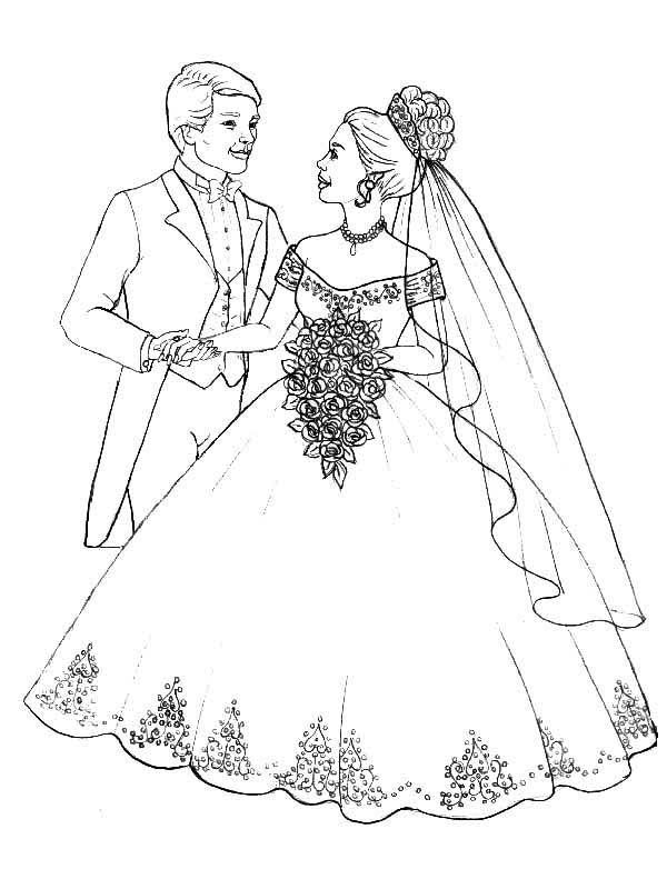 Printable Wedding Colouring Pictures : Wedding Bouquet Coloring Pages Coloring Home
