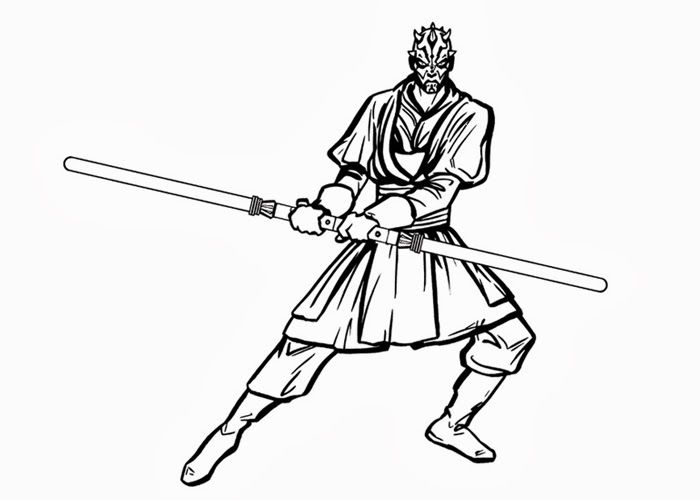 Star Wars Darth Maul Coloring Page Coloring Home