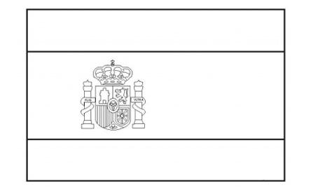 Spain Flag Coloring Page Coloring Home