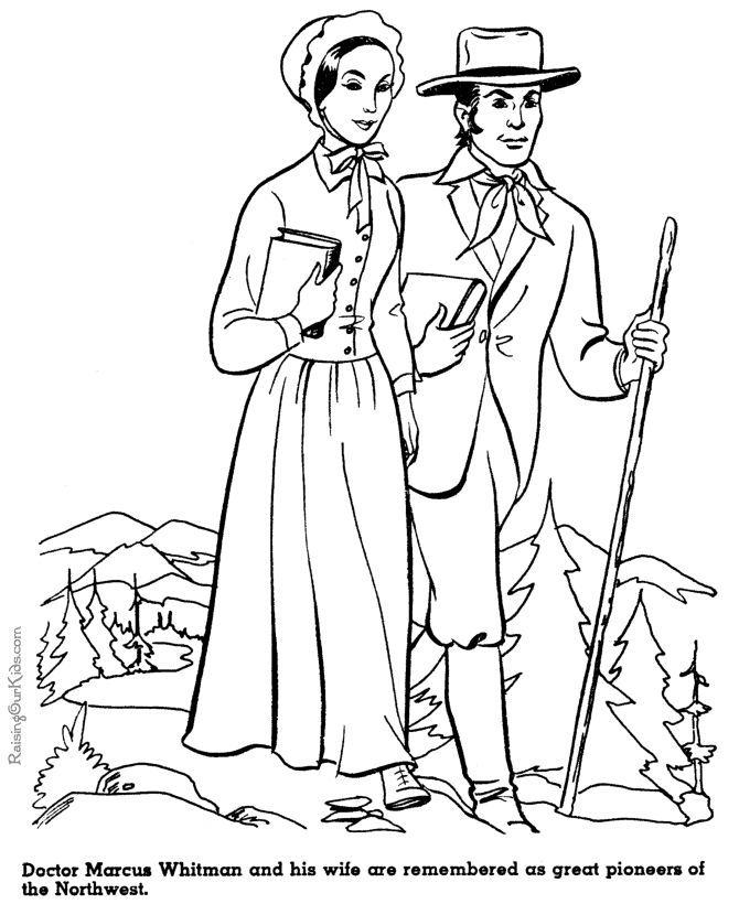 prioneer coloring pages - photo#23