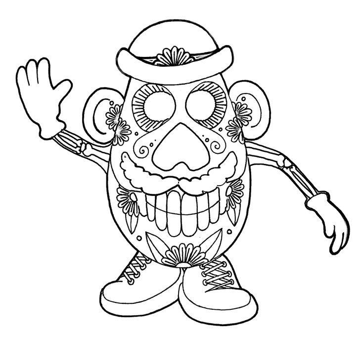 Dia De Los Muertos Skull Coloring Pages Printable Coloring Pages -  Coloring Home